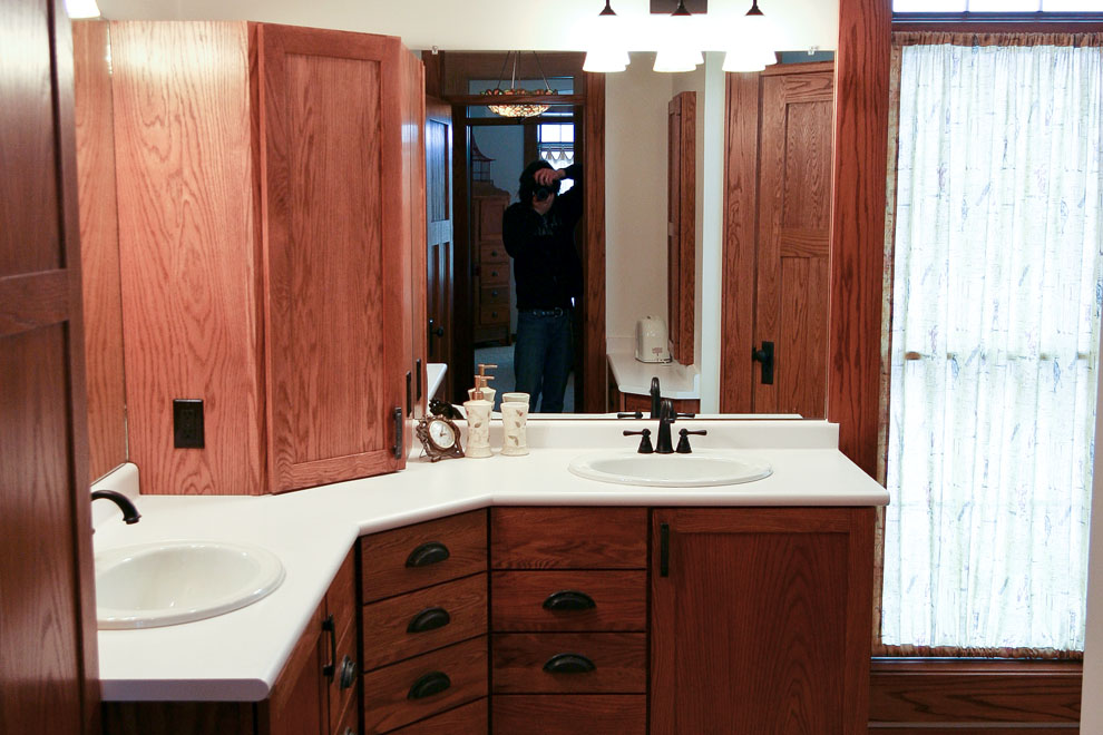 craftsman custom bathroom