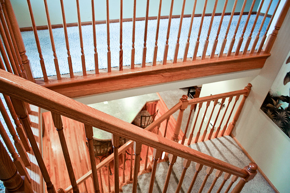 traditional wooden railing