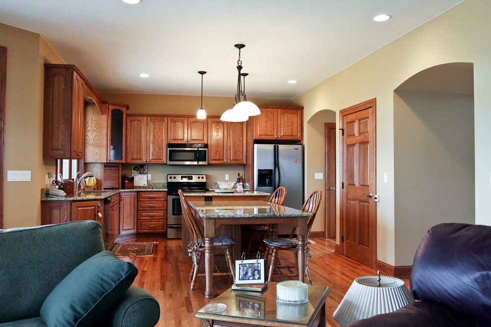 traditional kitchen overview