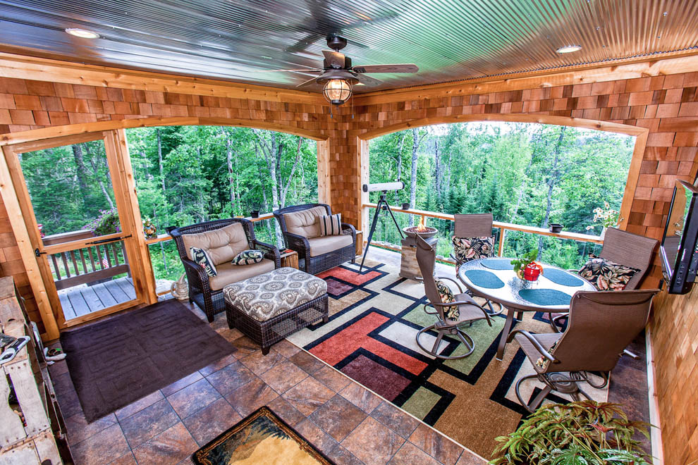 Rustic Covered Porch View 1