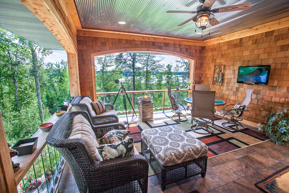 Rustic Covered Porch View 2