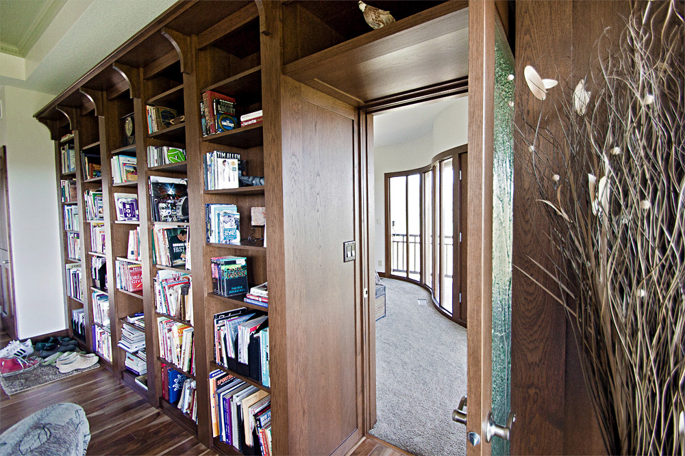 custom woodwork craftsman bookshelves
