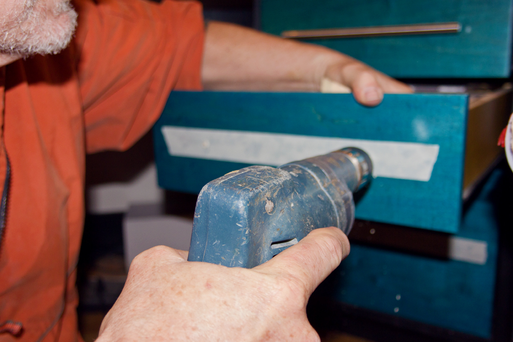 drilling cabinet hardware holes