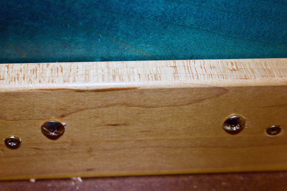 cabinet drawer back with screws