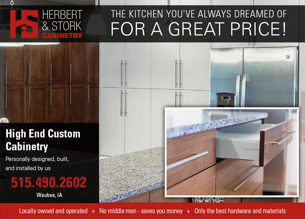 custom cabinetry special ad